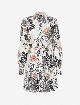Pinko Coccobil printed woven mini dress