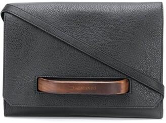 Calicanto Wooden Handle Leather Crossbody Bag