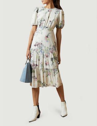Ted Baker Grove floral-print crepe midi dress
