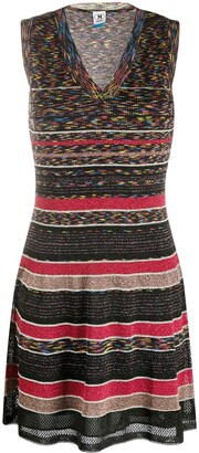 M Missoni Striped Fine Knit Mini Dress