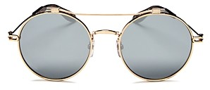 Givenchy Women's Mirrored Brow Bar Round Sunglasses, 53mm
