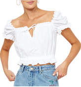 MinkPink Bridgite Crop Blouse
