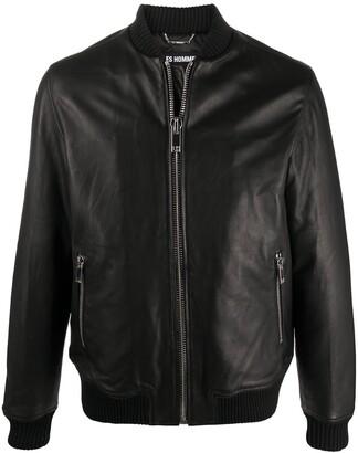 Les Hommes Zip-Up Sheepskin Jacket