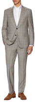 Kenneth Cole New York Plaid Wool Notch Lapel Suit