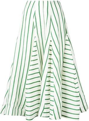 Rosie Assoulin Flouncy Striped Skirt