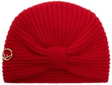 Fendi Logo-plaque wool turban