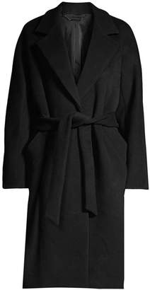 Elie Tahari Calissi Double Face Wool-Blend Wrap Coat