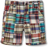 Gap Patchwork madras flat front shorts