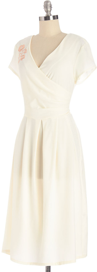 Demure All I Want Dress in Eggshell