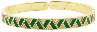 Alessa Yellow Gold and Diamond Elixir Fantasy Binary Bracelet