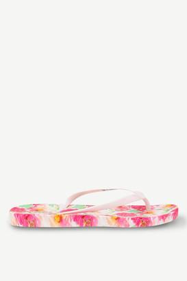 Ardene Floral Rubber Flip-Flops