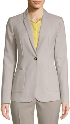 T Tahari Riesling Single Button Blazer