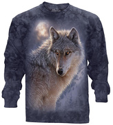 The Mountain Blue Wolf Long-Sleeve Tee - Unisex