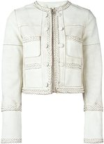 Givenchy braided trim cropped jacket