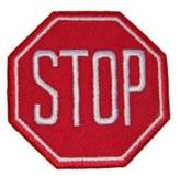Logophile Embroidered Stop Sign Patch