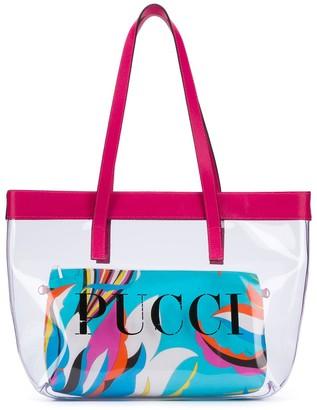 Emilio Pucci Junior Logo Print Tote Bag