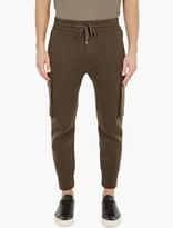 Helmut Lang Khaki Quilted Sweatpants