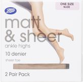 Boots Matt and Sheer Nude Ankle Highs 2 Pair Pack.