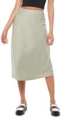 So Juniors' Midi Slip Skirt