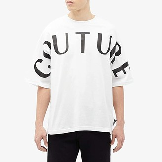 Versace Bold Logo Over Fit T-Shirt (Optic White) Men's Clothing