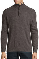 Black Brown 1826 Mockneck Cashmere Sweater