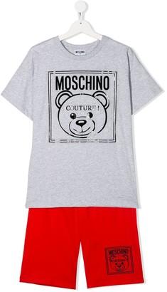 MOSCHINO BAMBINO TEEN Teddybear tracksuit short set