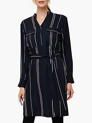Phase Eight Keiko Stripe Dress, Navy Multi