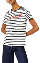 Warehouse Saturday Striped T-Shirt, Blue