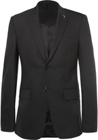 Givenchy Black Slim-Fit Wool-Blend Suit Jacket