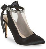 Nina Women's 'Rosana' Crystal-Embellished Tie-Back Pump