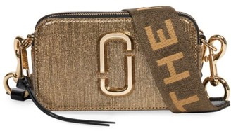 Marc Jacobs The Snapshot Metallic Leather Camera Bag