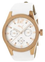 Puma Women's PU101982001 Tire Multifunction Rosegold and White Dial Watch