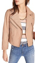 Madewell Women's Crop Leather Moto Jacket