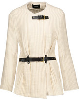 Isabel Marant Glasco Leather-Trimmed Buckled Quilted Cotton Jacket