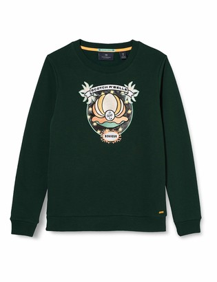 Scotch & Soda Girl's Crewneck Sweat with Shell Embroidery Sweatshirt