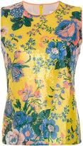 Diane von Furstenberg floral sequin shell top - women - Silk/Polyester/Spandex/Elastane - S