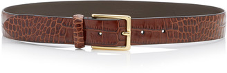 Andersons Croc-Effect Glazed Leather Belt