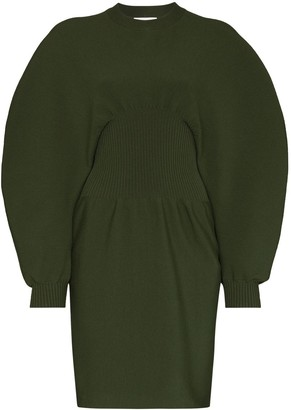 Bottega Veneta Puff-sleeve Knit Mini Dress