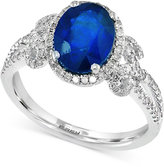 Effy Final Call Sapphire (1-9/10 ct. t.w.) and Diamond (3/8 ct. t.w.) Ring in 14k White Gold