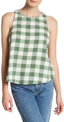 Melrose and Market Plaid Open Shell Tank