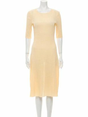 Rosetta Getty Scoop Neck Midi Length Dress w/ Tags Yellow