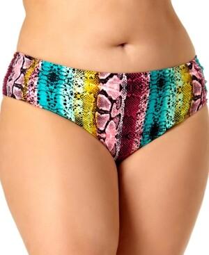 California Waves Plus Size Bikini Bottoms Women's Swimsuit