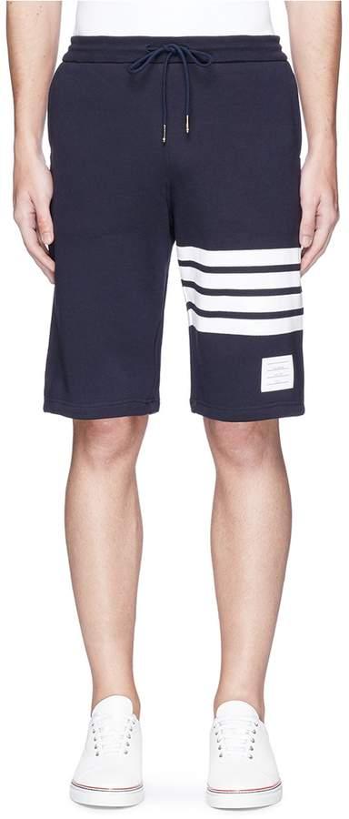 Thom Browne Stripe leg cotton sweat shorts