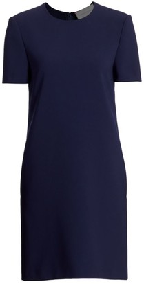 Carolina Herrera Crepe Short-Sleeve Shift Dress