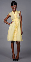Yellow Ruffled Shirt Dresses by eDressMe New York