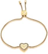 Michael Kors Heritage Goldtone Heart Bracelet w/Crystals