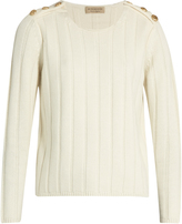 Burberry Rye wool and cashmere-blend ribbed-knit sweater