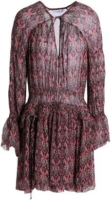 IRO Printed Crepe Mini Dress