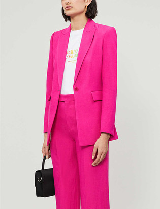 Maje Vosia single-breasted twill blazer