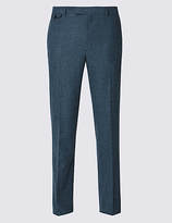 Collezione Pure Cotton Tailored Fit Trousers With Buttonsafetm
